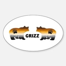 FURRY GRIZZ PRIDE BEARS Oval Decal
