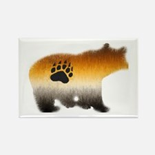 BEAR PRIDE FURRY BEAR 2 Rectangle Magnet