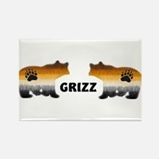 FURRY GRIZZ PRIDE BEARS Rectangle Magnet