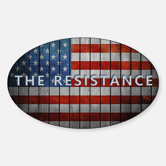 Cute America in distress Sticker (Oval)