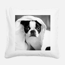 Boston Terrier Square Canvas Pillow