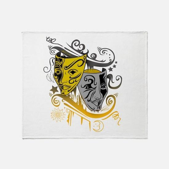 Zodiac - Gemini - Black & Gold Throw Blanket