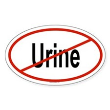 URINE Oval Decal