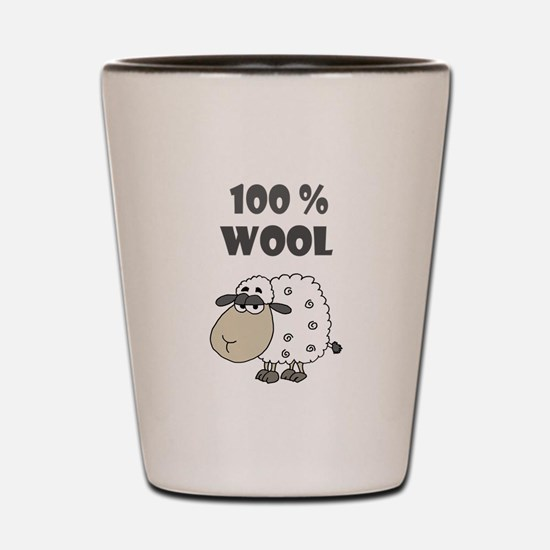 Funny Sheep Wool Cartoon Shot Glass
