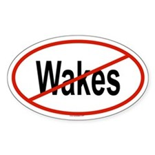 WAKES Oval Decal