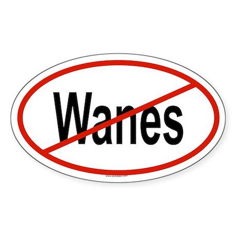 WANES Oval Sticker