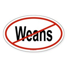 WEANS Oval Decal
