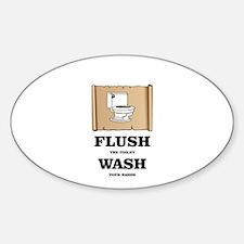 toilet flushed hands washed Decal
