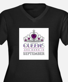 Queens are Born in September Plus Size T-Shirt