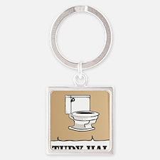 Unique Potty humor Square Keychain