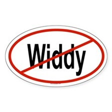 WIDDY Oval Decal