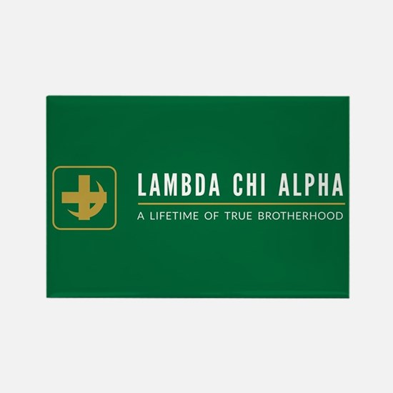 Lambda Chi Alpha Brotherhood Logo Rectangle Magnet