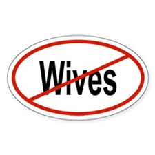 WIVES Oval Decal