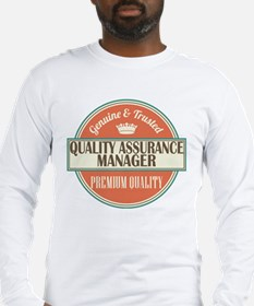 Quality Assurance Manager Gift Idea Long Sleeve T-