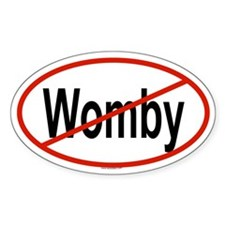 WOMBY Oval Decal