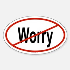 WORRY Oval Decal