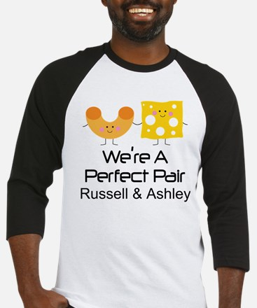 Mac and Cheese Couples Personalized Baseball Jerse