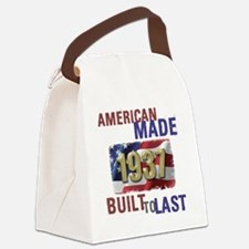 Funny Made in america Canvas Lunch Bag