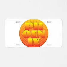 Phoenix - Sun Design Aluminum License Plate