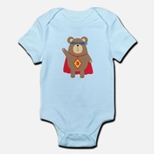 Flying Hero Bear Body Suit