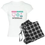 Cute Geek Couple Personalized Nerd Pajamas