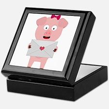 Female Pig with Loveletter Keepsake Box