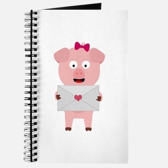 Female Pig with Loveletter Journal
