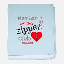 Member of the Zipper Club baby blanket
