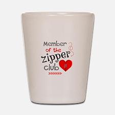 Member of the Zipper Club Shot Glass