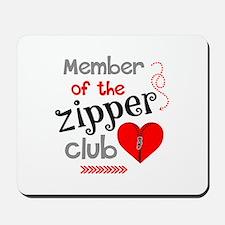 Member of the Zipper Club Mousepad
