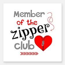 """Member of the Zipper Clu Square Car Magnet 3"""" x 3"""""""