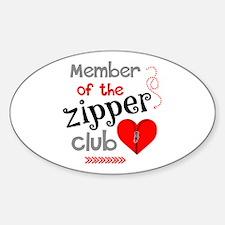 Member of the Zipper Club Decal