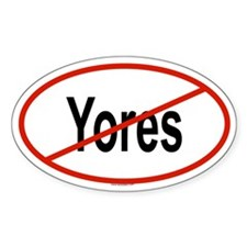 YORES Oval Decal