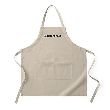 Alphabet soup BBQ Apron