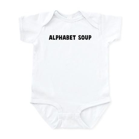 Alphabet soup Infant Bodysuit