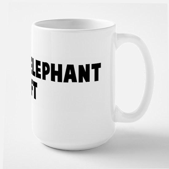 A white elephant gift Large Mug