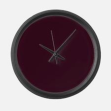wine red burgundy plum Large Wall Clock