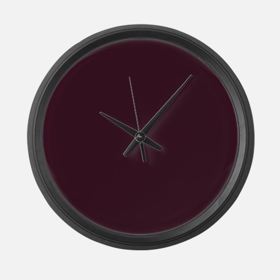 wine red burgundy plum Large Wall Clock