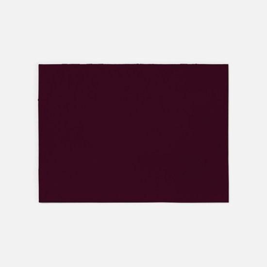 wine red burgundy plum 5'x7'Area Rug