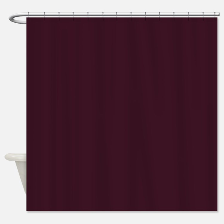 Maroon Shower Curtains