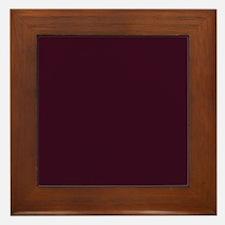 wine red burgundy plum Framed Tile