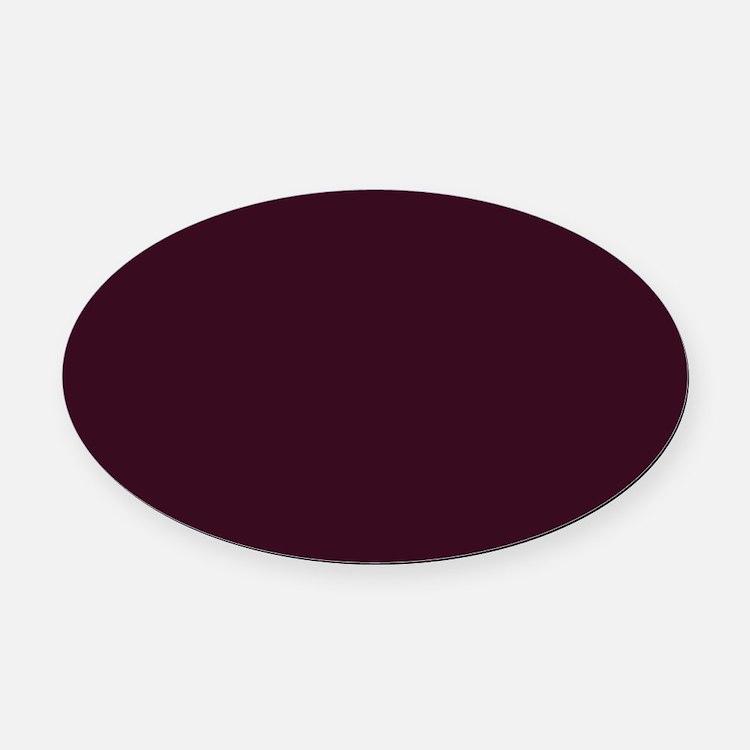 wine red burgundy plum Oval Car Magnet