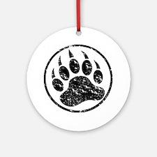 Cute Bear paw Round Ornament