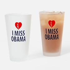 I Miss Obama Drinking Glass