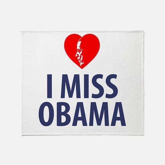 I Miss Obama Throw Blanket