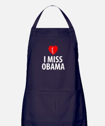 I Miss Obama Apron (dark)