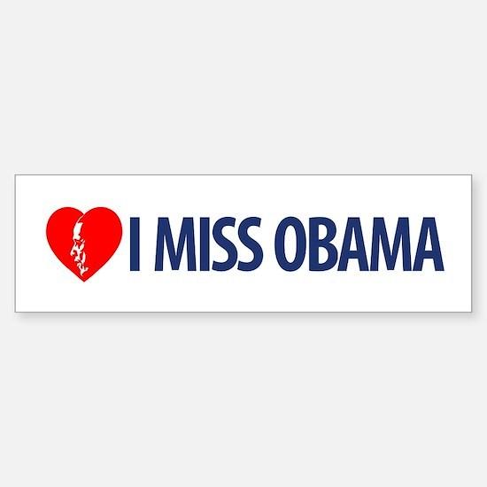 I Miss Obama Bumper Car Car Sticker