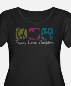 Peace, Love, Adoption Plus Size T-Shirt