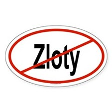 ZLOTY Oval Decal