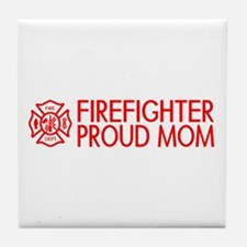 Firefighter: Proud Mom (Florian Cross) Tile Coaste